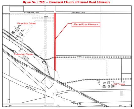 picture of proposed closure of unused road allowance
