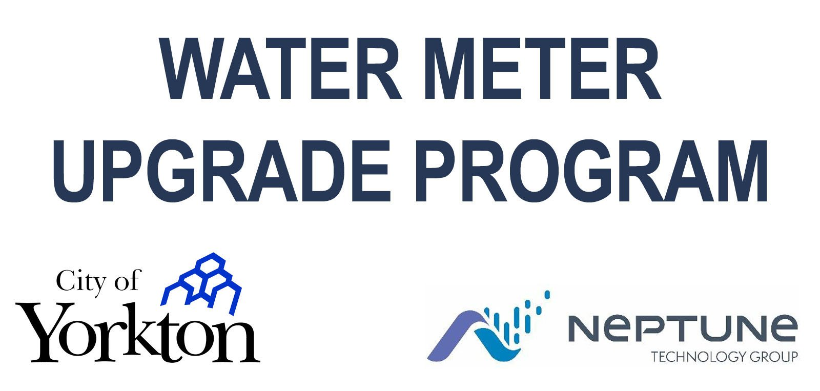 water meter upgrade city and contractor logos