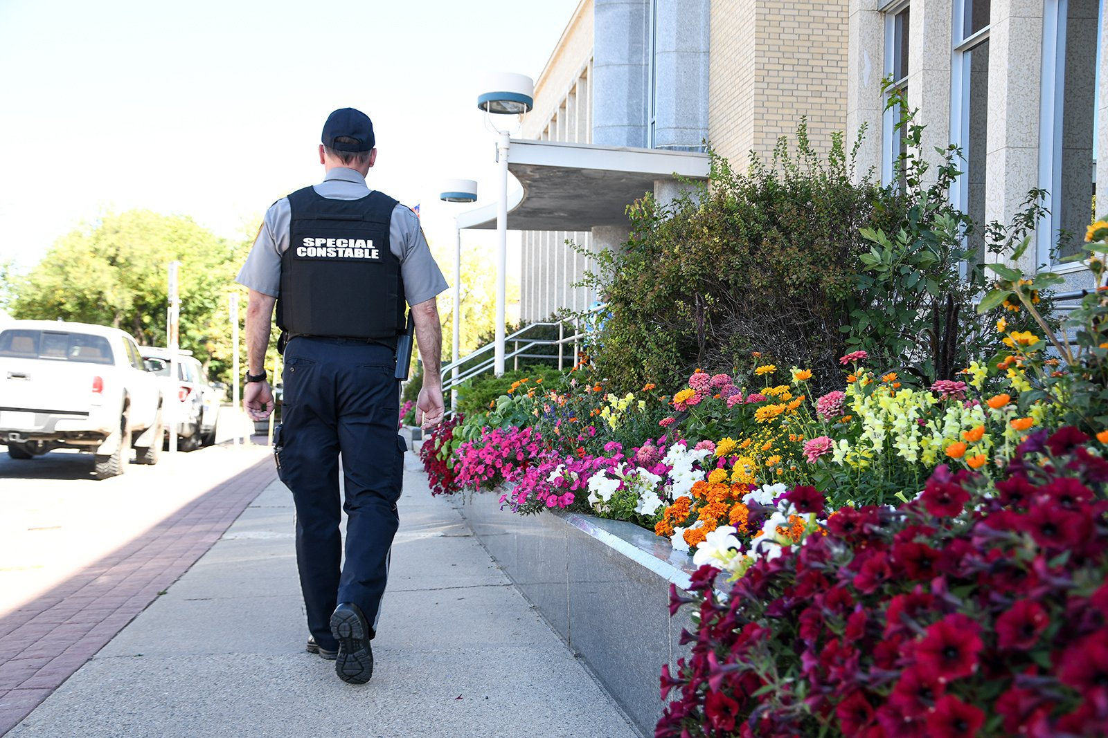 community safety officer walking