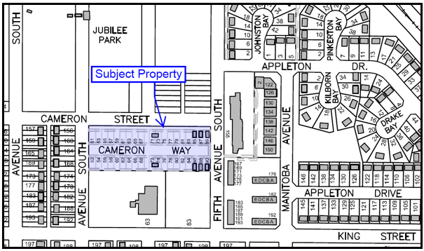 Map of Cameron Way